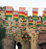 Volata delle bandiere Fotografie Stock