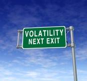 Volatilidad Imagen de archivo libre de regalías