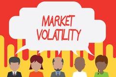 Volatilidad de mercado del texto de la escritura Los precios de seguridades del significado del concepto que son la base fluctúan stock de ilustración