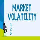 Volatilidad de mercado del texto de la escritura de la palabra El concepto del negocio para los precios de seguridades que son la stock de ilustración