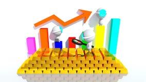 Volatilidade de preço do ouro Foto de Stock