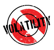 Volatility rubber stamp Stock Image
