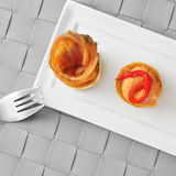 Volauvents served as appetizer Stock Photos