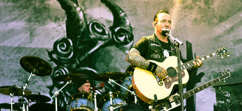 Volbeat live concert  2016 heavy metal band Stock Photo
