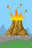 Volcán 01 Imagen de archivo libre de regalías