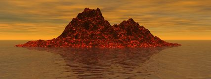 Volcán stock de ilustración