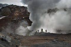 Volcán activo Foto de archivo libre de regalías