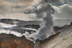 Volcán activo Fotografía de archivo