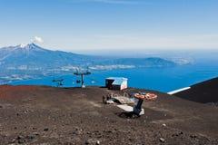 Volcán Chile de Calbuco del teleférico imágenes de archivo libres de regalías