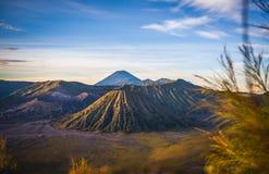 Volcán de Bromo del soporte, Indonesia Imagen de archivo