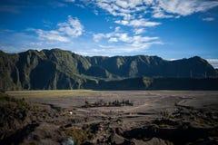 Volcán de Bromo del soporte, Indonesia Foto de archivo
