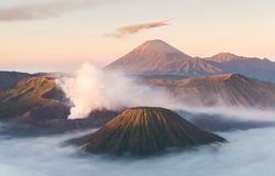 Volcán de Bromo, parque nacional de Tengger Semeru, Java Oriental, Indonesia Fotos de archivo