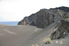 Volcán de Capelinhos imagenes de archivo