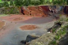 Volcán de Croscat en Olot, España fotografía de archivo