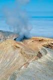 Volcán de Ebeko, isla de Paramushir, Rusia Fotografía de archivo libre de regalías