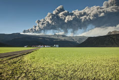 Volcán de Eyjafjallajokull imagenes de archivo