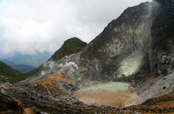 Volcán de Gunung Sibayak fotografía de archivo libre de regalías