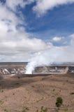 Volcán de Kilaeua, isla grande, Hawaii Foto de archivo
