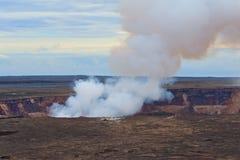 Volcán de Kilauea en la isla grande de Hawaii Foto de archivo
