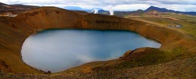 Volcán de Krafla Foto de archivo libre de regalías