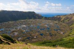Volcán de los Kau de Rano Foto de archivo