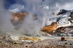 Volcán de Mutnovsky, Kamchatka imagen de archivo libre de regalías