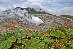 Volcán de Poas imágenes de archivo libres de regalías