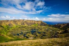 Volcán de Rano Kau Fotografía de archivo libre de regalías