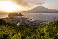 Volcán de Sakurajima imagen de archivo