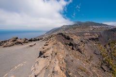 Volcán de San Antonio en la isla de Palma del La, islas Canarias Fotografía de archivo libre de regalías