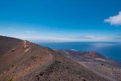 Volcán de San Antonio y de Teneguia en la isla de Palma del La Foto de archivo