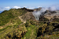 Volcán de Souffrière del La en Guadalupe Imagenes de archivo