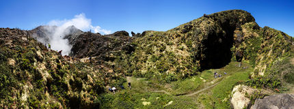 Volcán de Souffrière del La en Guadalupe Fotos de archivo libres de regalías