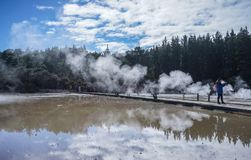 Volcán de Taupo en la isla del norte en Nueva Zelanda Imagen de archivo