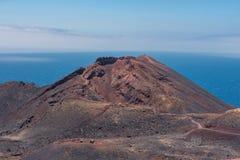 Volcán de Teneguia en la isla de Palma del La, islas Canarias Foto de archivo libre de regalías