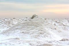 Volcán del hielo del invierno Fotos de archivo
