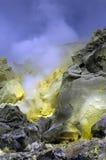 Volcán del sulfuro de las Islas Gal3apagos Imágenes de archivo libres de regalías