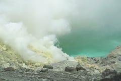 Volcán East Java de Kawah Ijen Imágenes de archivo libres de regalías