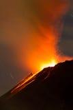 Volcán Ecuador de Tungurahua Fotos de archivo