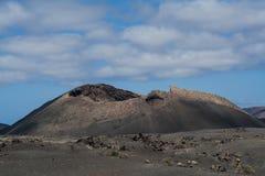 Volcán, el cuervo, isla de Lanzarote Foto de archivo
