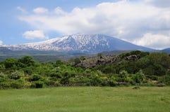 Volcán el Etna. Fotos de archivo libres de regalías