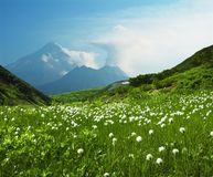 Volcán en el Kamchatka Fotos de archivo