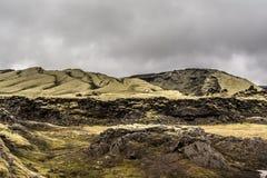 Volcán en el Lakagigar Foto de archivo