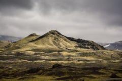 Volcán en el Lakagigar Foto de archivo libre de regalías