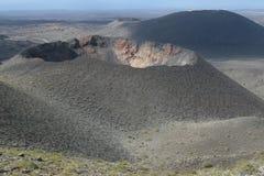 Volcán en el parque nacional de Timanfaya en Lanzarote Fotografía de archivo libre de regalías