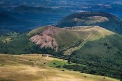 Volcán en Francia Fotografía de archivo