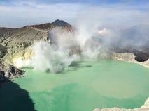 Volcán en Indonesia Foto de archivo libre de regalías