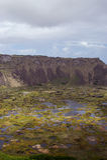 Volcán en Isla de Pascua Rapa Nui Semana Santa Foto de archivo