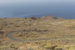 Volcán en la isla del EL Hierro Foto de archivo