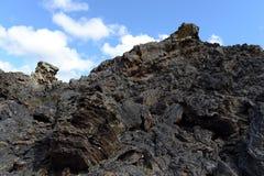 Volcán extinto el domicilio del diablo en el parque nacional Pali Aike fotografía de archivo